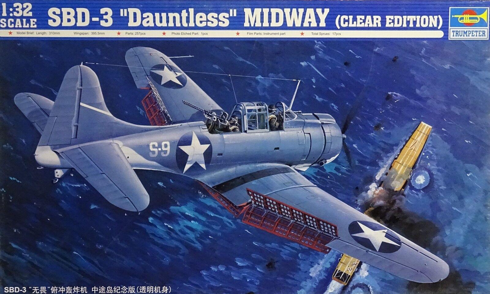 TRUMPETER® 02244 SBD-3 Dauntless Midway (Clear Edition) in 1 32    Vielfalt