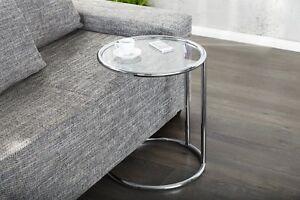 Designer Couchtisch Chrom In Silber Glastisch Tisch Beistelltisch