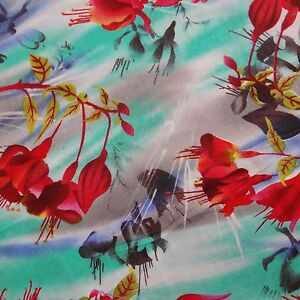 Multicolor-Rayon-Designer-Material-43-034-Wide-Printed-Fabric-Sewing-Craft-By-Metre