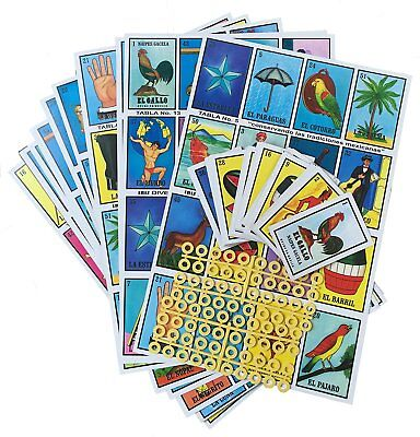 Loteria cards in order