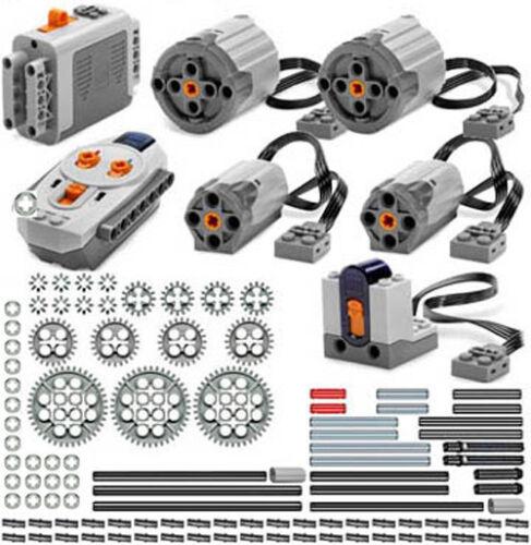 Lego Power Functions PRO technic,motor,gear,pin,axle,bush,remote,receiver,car