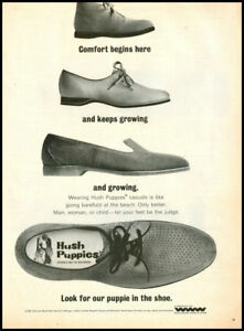 1966 Vintage Ad For Hush Puppies Shoes Ebay