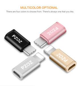 Marchio-pzoz-MicroUSB-a-Lightning-Adattatore-per-iPhone-X-8-7-6-amp-iPad-UK-Venditore
