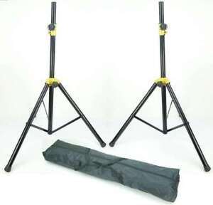 2 x DJ PA Boxen Ständer Lautsprecher Stativ Boxenstativ Tasche Set 132 cm 25 kg
