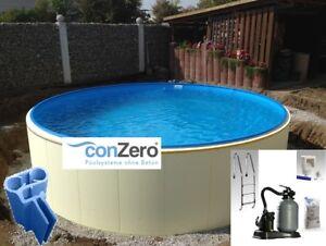 Pool set stahlwand conzero bodenplatte schalung for Rundpool folie