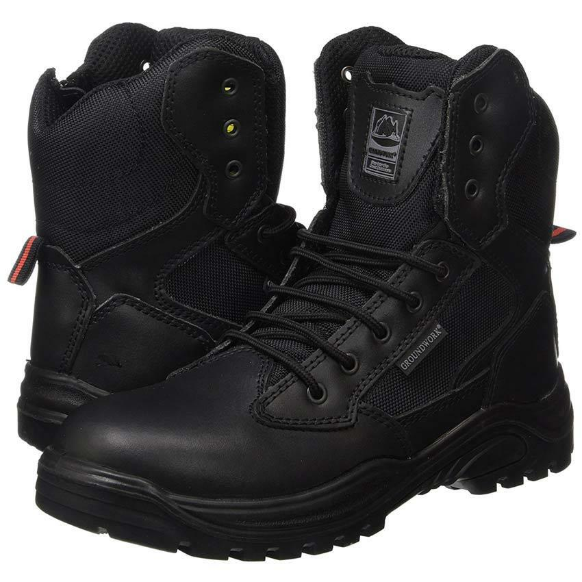 d08224ea6 MENS SAFETY BOOTS ARMY MILITARY POLICE TACTICAL STEEL TOE CAP COMBAT WORK  SHOES