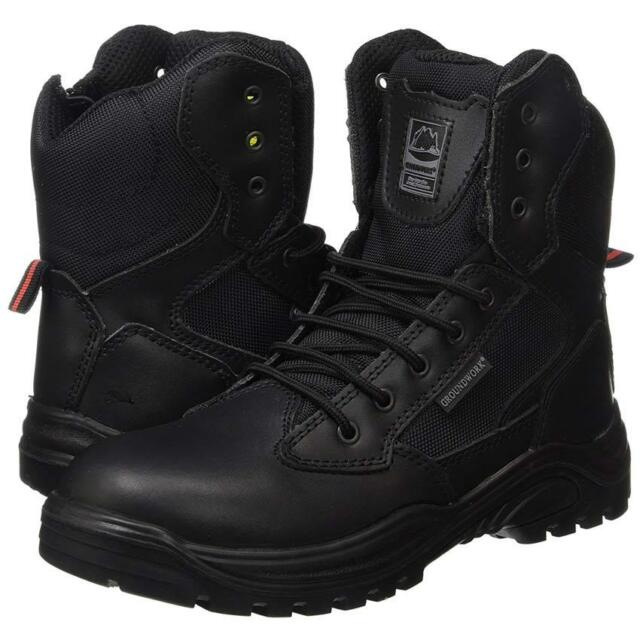 7bbbadb8381 MENS SAFETY BOOTS ARMY MILITARY POLICE TACTICAL STEEL TOE CAP COMBAT WORK  SHOES