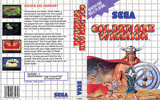 Golden Axe Warrior Sega Master System Replacement Box Art Case Insert Cover Scan