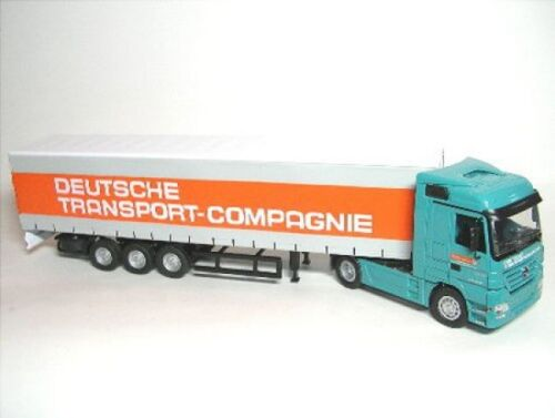 Mercedes-Benz Actros Gardinenauflieger Deutsche Trans Company DTC
