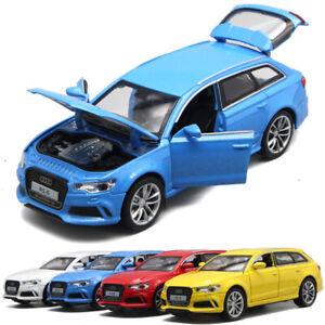 AUDI-RS6-Quattro-Coche-Modelo-Escala-1-32-DIECAST-coleccion-de-vehiculos-de-juguete-de-regalo-ninos