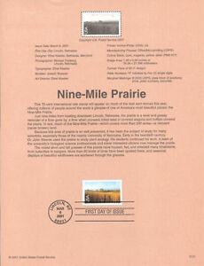 #0121 70c Nine-Mile Prairie #C136 Souvenir Page
