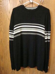 Marquis-Large-Crewneck-Sweater-Shirt-Black-Long-Sleeve-Acrylic-Very-Nice
