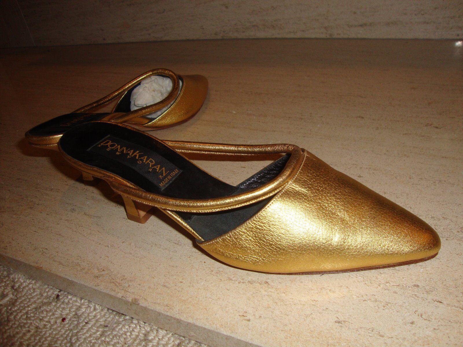 Preciosa, nuevo oro Cuero Mulas por mujer Karan Colección Colección Colección Italiana e29148