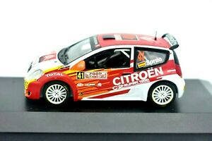 Model-Car-Citroen-C2-Rally-Scale-1-43-diecast-modellcar-Rallye-IXO-Citroen