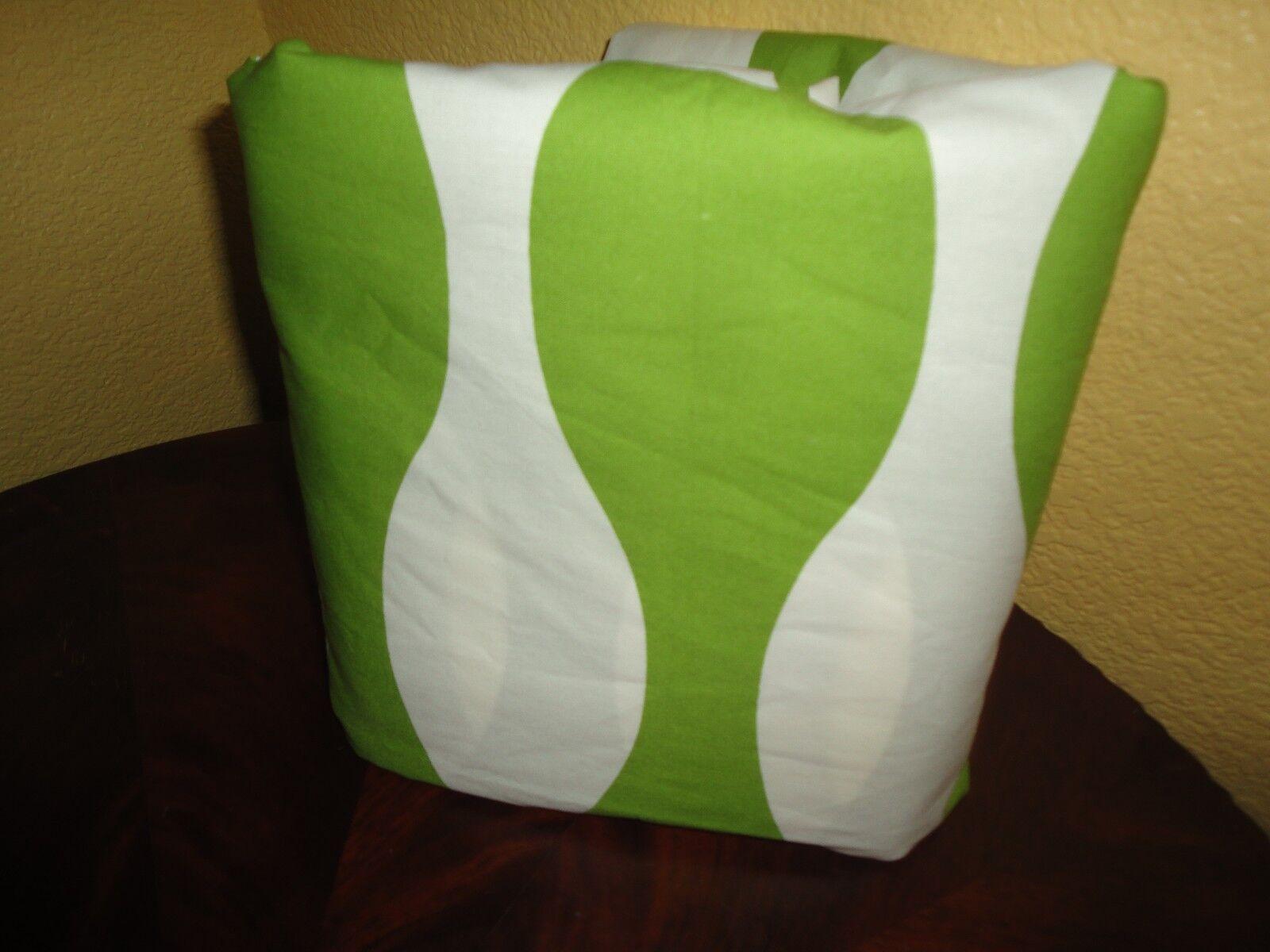 IKEA IKEA PAPAVER VAG GREEN WHITE 100% COTTON TWIN DUVET 62 X 86 NEW