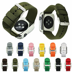 Waterproof Nylon Fabric Canvas Strap For Apple Watch Series 5 4 3 2 1 Watch Band Ebay