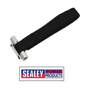Sealey-Llave-De-Correa-De-Filtro-De-Aceite-Capacidad-de-300mm-3-8-034-y-1-2-034-Sq-Drive-AK6403
