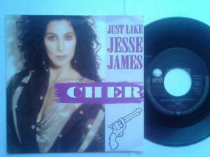 Cher-Just-Like-Jesse-James-7-034-Single-Vinyl-1989-mit-Schutzhuelle