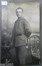 original  Foto feldgrau 14 18 mit Ersatz Seitengewehr