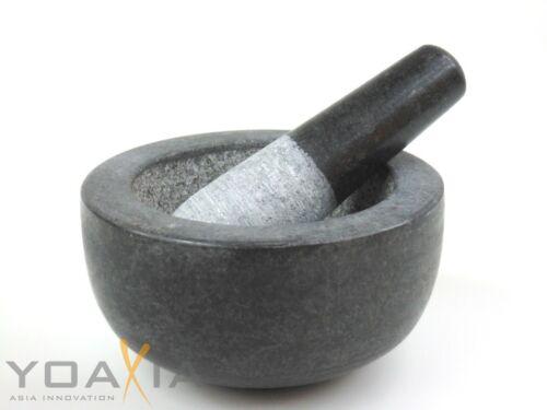 Pierre mortier avec galet à épices mortier//pierre mortier ø 14cm hauteur 7,7cm