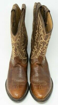  Pull-on Western Boots Golds Boot Tony Lama Mens Lovett Tan 12 Height Made in USA 7938