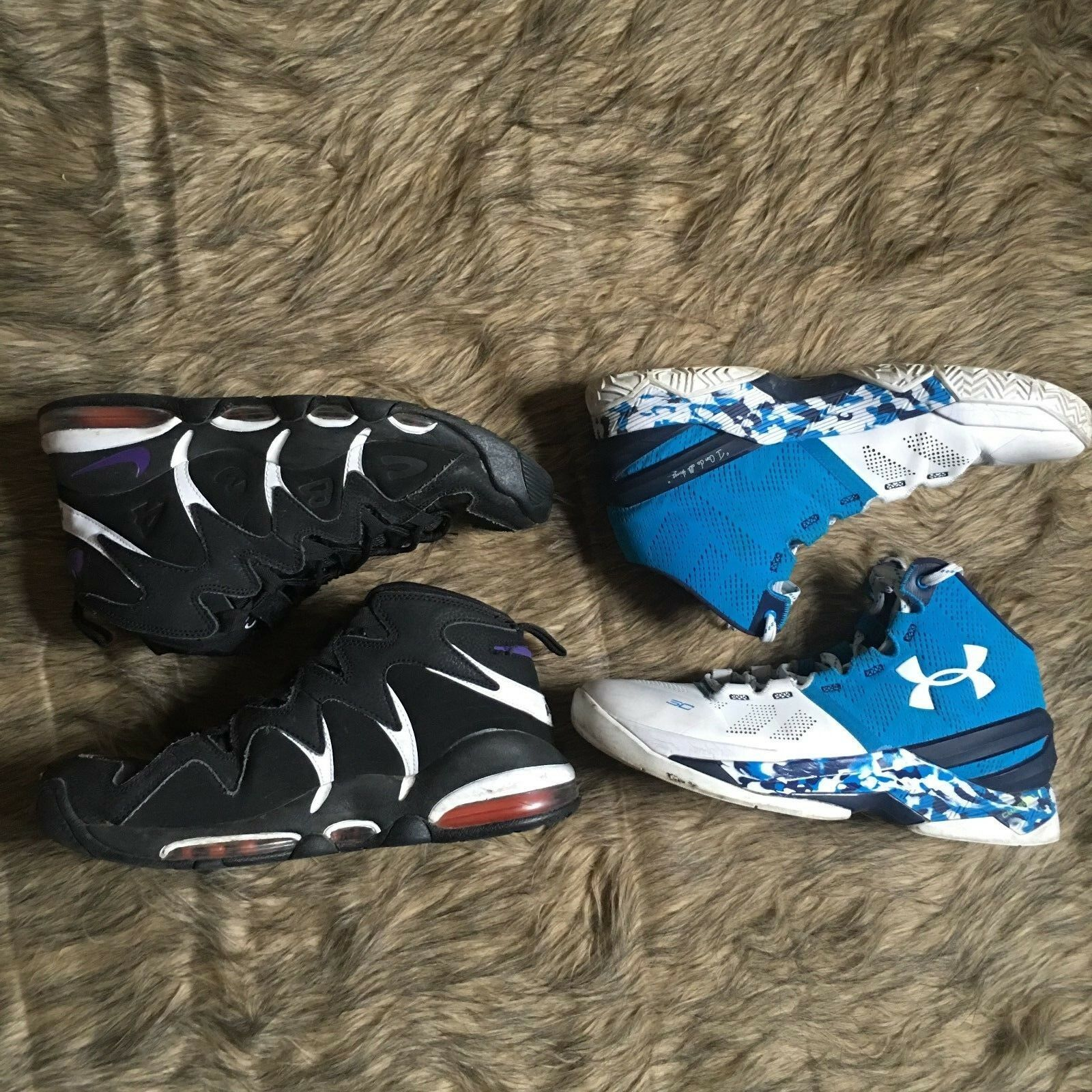 Nike Air Men's 414243-002 Under Armor Basketball Shoes Lot of 2 Size 10