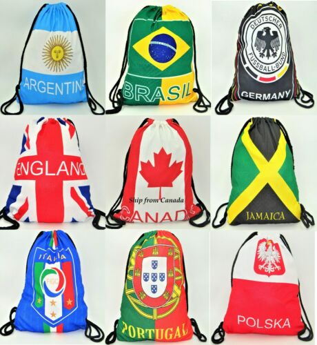 Large High Quality Country String Drawstring Knapsack Backpack Bags New