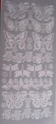 Peel-offs Mariposas E Insectos Oro Y Plata 2 Pk