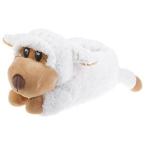 Schaf-Tier-Hausschuhe-Pantoffel-Schlappen-Kuscheltier-Pluesch-Schuh-Damen-Kinder