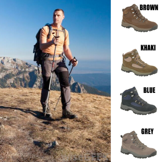 wholesale online clearance sale hot new products Mens Waterproof Boots Hiking Trail Real Genuine Leather Lace Up Campaign  Shoes