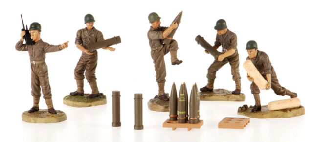 WWII US Artillery Crew: 1:32 Scale Crewmen & Ammunition for Artillery Diorama