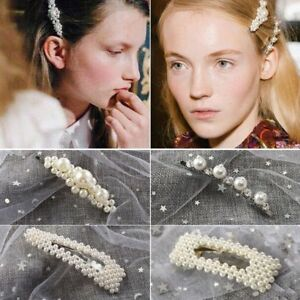 Fashion-Women-Pearl-Hair-Clip-Snap-Barrette-Stick-Hairpin-Hair-Accessories-Gift