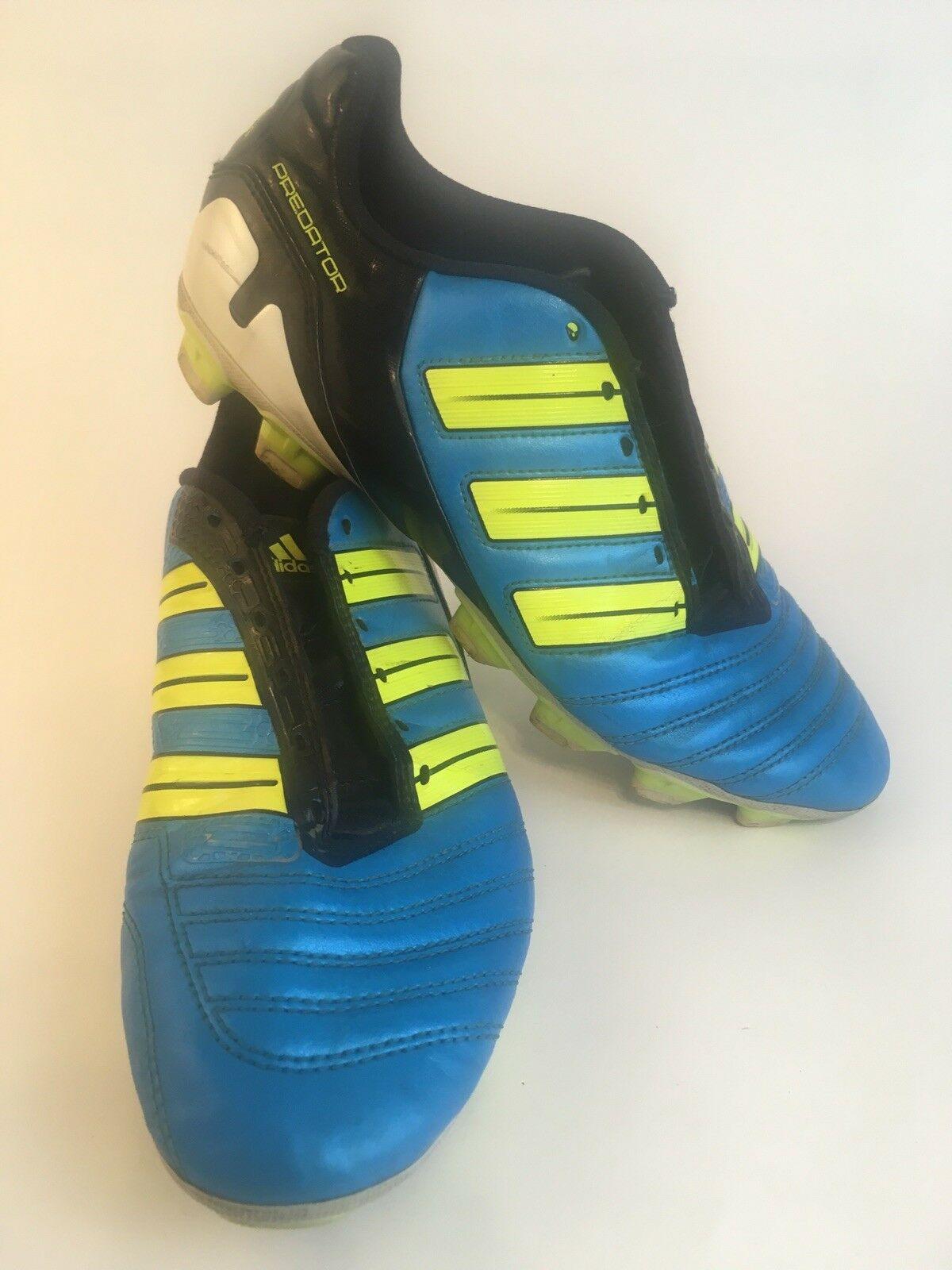 0ec06ff78a3b Adidas 2011 AdiPower Predator Soccer Cleats Boots Top Leather FG Mens 8  Wmns 10