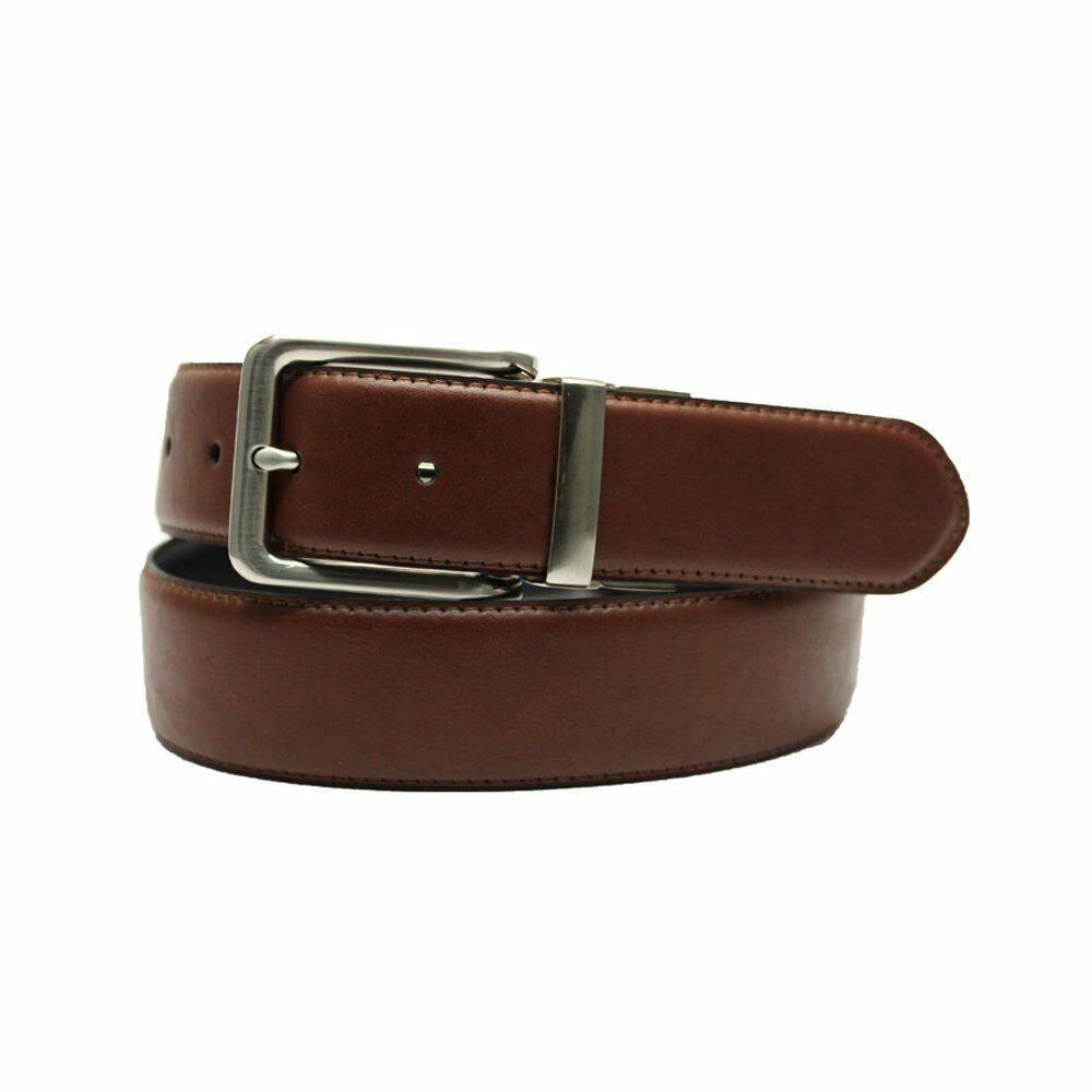 *** Nuevo George para hombre 35MM Negro Marrón Reversible Cinturón Elástico