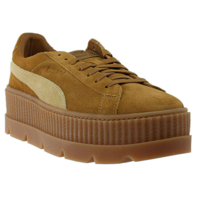 PUMA X Rihanna Cleated Creeper in Brown golden 36626702 10.5 15a797ebe