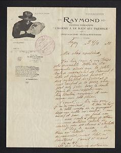 LYON-69-GRAVEUR-FORAIN-034-L-039-HOMME-a-LA-MAIN-QUI-TREMBLE-RAYMOND-034-dedicacee-1925