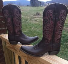 Ariat Size 8.5 B Women's Mahogany Bright Lights Western Cowboy Boots 10011920