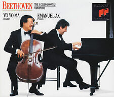 BEETHOVEN: 5 CELLO SONATAS Cellosonaten. Yo-Yo Ma, Emanuel Ax, 2 CDs, sehr gut