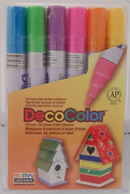 MARVY UCHIDA DecoColor Opaque Paint Marker Fine Point 3mm FREE SHIP Gold 200-S