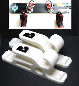2X-WHITE-Snowboard-Skateboard-Longboard-Hanger-Holder-Display-Storage-Wall-Mount