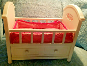 Pleasant Bitty Baby Doll 2008 American Girl Discontinued Crib W Download Free Architecture Designs Photstoregrimeyleaguecom