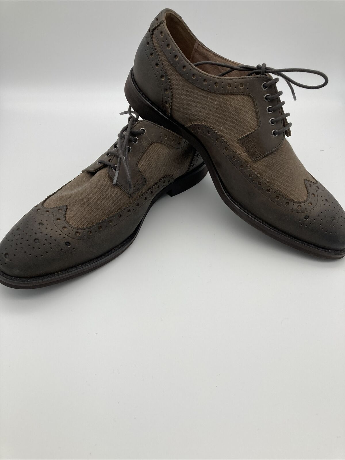 Joseph Abboud Wingtip Saddle Brown Two-tone Oxford Dress Shoes 40g4r00012 Sz 10