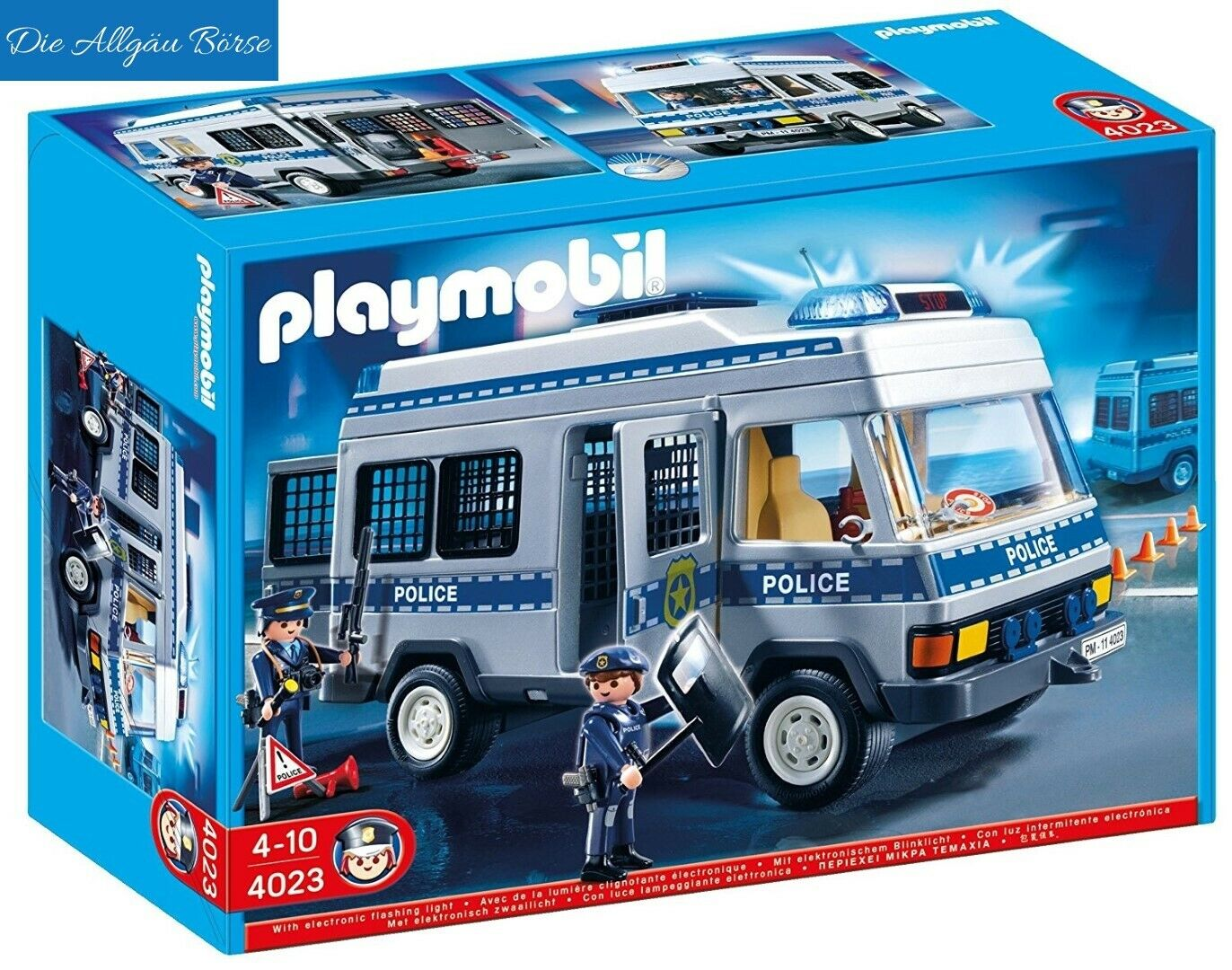 Playmobil 4023 Polizei Mannschaftswagen City Action Police selten Neu OVP