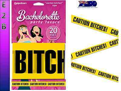 BACHELORETTE CAUTION BITCHES Tape Fun Gift Hens Night Decoration Party
