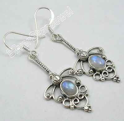 925 Pure Silver DESIGNER Earrings MOONSTONE, APATITE & Other Gemstones To Choose