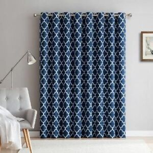 Image Is Loading 100 034 Wx84 034 L NAVY BLUE CURTAIN