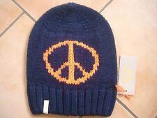 (M36) Grobstrick Mütze FREAKY HEADS Beanie Wintermütze Peace mit Logo Aufnäher