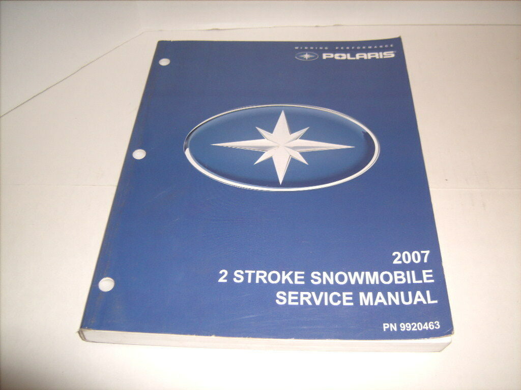 2007 POLARIS SNOWMOBILE 2 STROKE  SERVICE MANUAL BOOK with CD P N 9920463  preferential