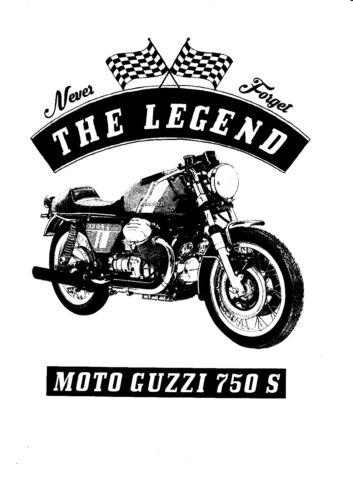 moto Oldtimer T-shirt Moto Guzzi 750 S YOUNGTIMER vélo