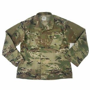 US Army OCP Combat Coat Men Size M Regular Full Zip Military Camouflage Fatigues